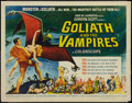 """Movie Posters:Horror, Goliath and the Vampires (American International, 1964). Half Sheet(22"""" X 28""""). Horror.. ..."""