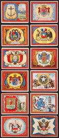 Non-Sport Cards:Sets, 1910-1911 T107 State Seals and National Coats of Arms Partial Set(84/100) Plus Sixteen Extras....