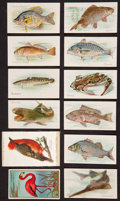"Non-Sport Cards:Sets, 1910's T58 Piedmont/Sweet Caporal ""Fish Series 1-100"" Near Set(87/100) Plus Extras, Silks, Etc. ..."