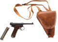 Handguns:Semiautomatic Pistol, Japanese Nambu Type 14 Semi-Automatic Pistol and Shoulder Holster....
