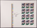 Football Cards:Singles (1970-Now), O.J. Simpson Signed Uncut Cards Sheet....