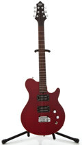 Musical Instruments:Electric Guitars, Gadow Trim Prototype Trans Red Solid Body Electric Guitar, SerialNumber #None...