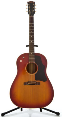1961 Gibson J-45 Cherryburst Acoustic Electric Guitar, Serial Number #7816
