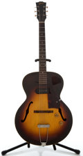 Musical Instruments:Electric Guitars, 1956 Gibson ES-125 Sunburst Semi-Hollow Body Electric Guitar,Serial Number #V6320-16....