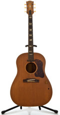 Musical Instruments:Acoustic Guitars, 1950's Gibson J-160E Natural Acoustic Electric Guitar, SerialNumber #None....