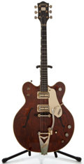 Musical Instruments:Electric Guitars, 1960's Gretsch Country Gentleman Walnut Solid Body Electric Guitar, Serial Number #171109....