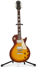 Musical Instruments:Electric Guitars, Recent Epiphone Model: Les Paul Sunburst Solid Body ElectricGuitar, Serial Number #L6080764....