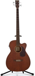 Musical Instruments:Bass Guitars, Recent Martin BC-15 Mahogany Electric Bass Guitar, Serial Number #1023576....