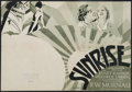 "Movie Posters:Academy Award Winners, Sunrise (Fox, 1927). Herald (4 Pages) (8.5"" X 11.5"") Academy AwardWinners.. ..."