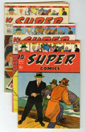 Golden Age (1938-1955):Miscellaneous, Super Comics Group (Dell, 1943-46).... (Total: 10 Comic Books)