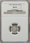 Seated Half Dimes: , 1853 H10C Arrows MS65 NGC. NGC Census: (73/61). PCGS Population(49/35). Mintage: 13,210,020. Numismedia Wsl. Price for pro...