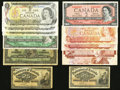 Canadian Currency: , Shinplasters and More.. ... (Total: 11 notes)