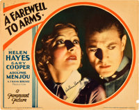 """A Farewell to Arms (Paramount, 1932). Autographed Lobby Card (11"""" X 14"""")"""