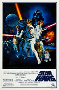 "Star Wars (20th Century Fox, 1977). One Sheet (27"" X 41"") Flat Folded Style C. Science Fiction"