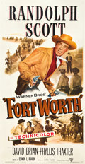 """Movie Posters:Western, Fort Worth (Warner Brothers, 1951). Three Sheet (41"""" X 81"""").. ..."""