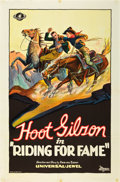 "Movie Posters:Western, Riding for Fame (Universal, 1928). One Sheet (27"" X 41"").. ..."