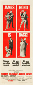"Movie Posters:James Bond, From Russia with Love (United Artists, 1964). Insert (14"" X 36"")....."