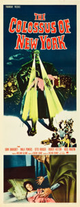 "Movie Posters:Science Fiction, The Colossus of New York (Paramount, 1958). Insert (14"" X 36"")....."