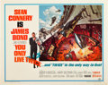 "Movie Posters:James Bond, You Only Live Twice (United Artists, 1967). Half Sheet (22"" X 28"").. ..."