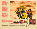 "Movie Posters:Western, Rio Bravo (Warner Brothers, 1959). Half Sheet (22"" X 28"").. ..."