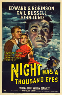 "Night Has a Thousand Eyes (Paramount, 1948). One Sheet (27"" X 41"")"