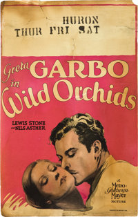 """Wild Orchids (MGM, 1929). Window Card (14"""" X 22"""")"""