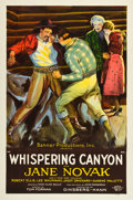 "Movie Posters:Drama, Whispering Canyon (Ginsberg-Kann, 1926). One Sheet (27"" X 41"")....."