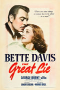 "Movie Posters:Drama, The Great Lie (Warner Brothers, 1941). One Sheet (27"" X 41"").. ..."