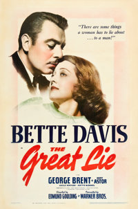 """The Great Lie (Warner Brothers, 1941). One Sheet (27"""" X 41"""")"""