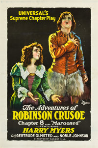 """The Adventures of Robinson Crusoe (Universal, 1922). One Sheet (27"""" X 41"""".Chapter 8 -- """"Marooned.""""..."""