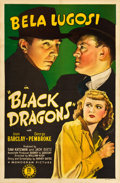 "Movie Posters:Mystery, Black Dragons (Monogram, 1942). One Sheet (27"" X 41"").. ..."