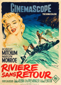 "Movie Posters:Adventure, River of No Return (20th Century Fox, 1954). French Grande (47"" X63"").. ..."