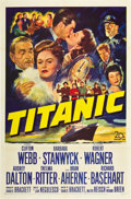 "Movie Posters:Drama, Titanic (20th Century Fox, 1953). One Sheet (27"" X 41"").. ..."