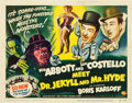 """Movie Posters:Comedy, Abbott and Costello Meet Dr. Jekyll and Mr. Hyde (UniversalInternational, 1953). Title Lobby Card (11"""" X 14"""").. ..."""