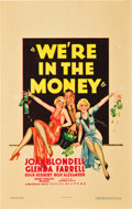 """Movie Posters:Comedy, We're in the Money (Warner Brothers, 1935). Window Card (14"""" X 22"""").. ..."""