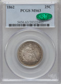Seated Quarters, 1862 25C MS63 PCGS. CAC....