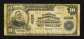 National Bank Notes:Kentucky, Owensboro, KY - $10 1902 Plain Back Fr. 626 The National DepositBank Ch. # 4006. ...