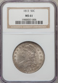 Bust Half Dollars: , 1813 50C MS61 NGC. NGC Census: (16/328). PCGS Population (8/64).Mintage: 1,241,903. Numismedia Wsl. Price for problem free...