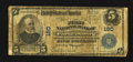 National Bank Notes:West Virginia, Parkersburg, WV - $5 1902 Plain Back Fr. 598 The First NB Ch. #180. ...