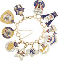 Baseball Collectibles:Others, 1949-60 New York Yankees Press Pins Charm Bracelet....