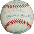 Autographs:Baseballs, 1953 New York Yankees Team Signed Reunion Baseball....