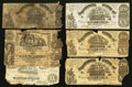 Confederate Notes:1861 Issues, T18 $20 1861 Four Examples. T20 $20 1861 Three Examples.. ... (Total: 7 notes)