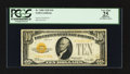 Small Size:Gold Certificates, Fr. 2400 $10 1928 Gold Certificate. PCGS Apparent Very Fine 25.. ...