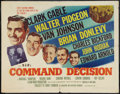 """Movie Posters:War, Command Decision (MGM, 1948). Half Sheet (22"""" X 28"""") Style B. War....."""