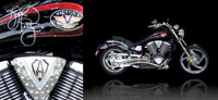 Benefiting Scottish Rite Hospital for Children Lot 2: 2004 Arlen Ness Victory Vegas Autographed b