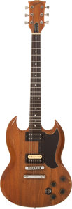 Musical Instruments:Electric Guitars, 1980 Gibson SG Natural Solid Body Electric Guitar, Serial Number#83520535....