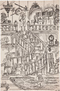 Original Comic Art:Sketches, S. Clay Wilson Demon at the Top of the Stairs Sketch Original Art (c. 1958)....