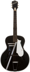Musical Instruments:Acoustic Guitars, 1950s Harmony H-95 Montclair Black Acoustic Guitar, #4466. ...