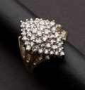 Estate Jewelry:Rings, Estate Diamond & Gold Cluster Ring. ...