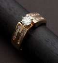 Estate Jewelry:Rings, Superb Diamond & Gold Ring. ...